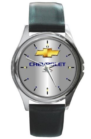 Chevrolet Logo Leather Watch